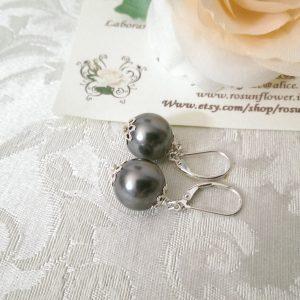 Orecchini con perle di cristallo swarovski