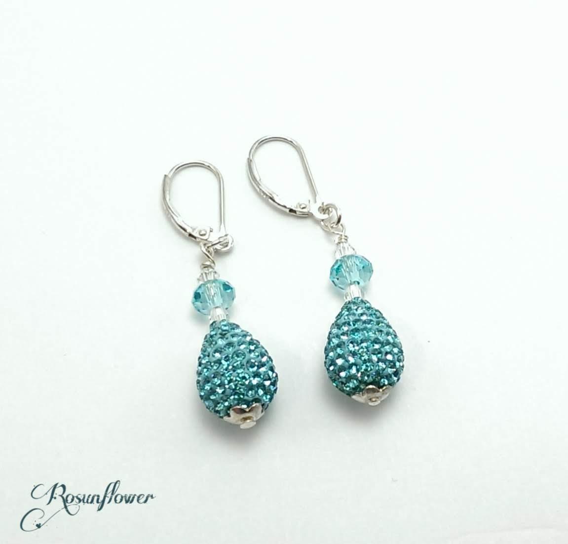 orecchini con perle aquamarine