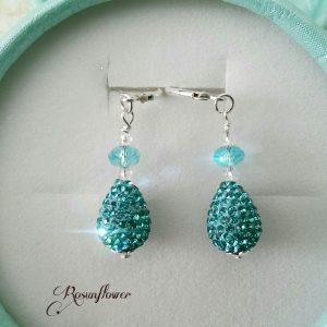 orecchini con perle briolette color acquamarina