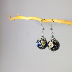 Orecchini con perle Tensha giapponesi, orecchini pendenti