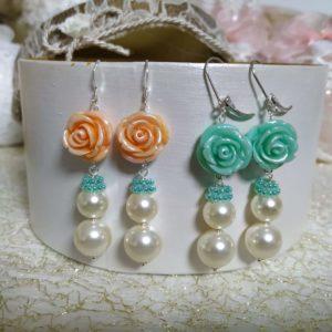 orecchini verde e arancio